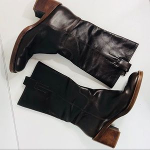 [Banana Republic] Leather block heel boot